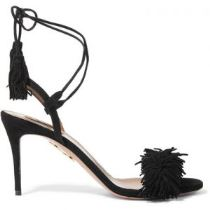 Aquazurra Wild Thing Fringed Suede Sandals