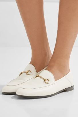 Gucci White Loafers
