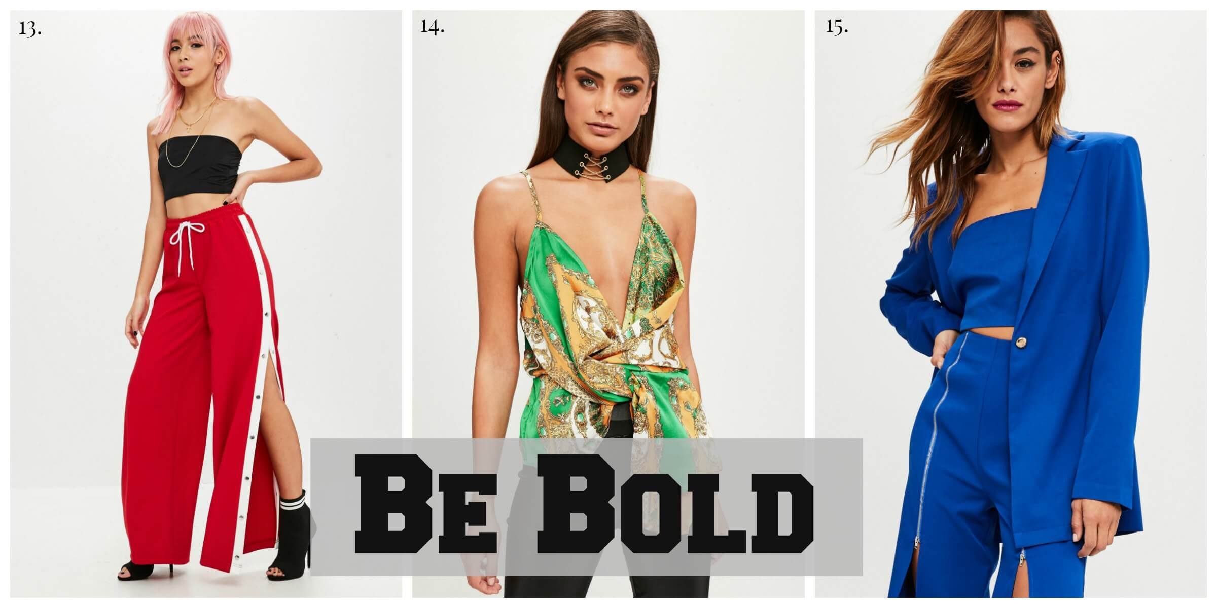 Bold Outfit Ideas, Bright Coloured Outfits